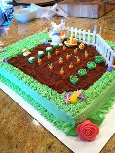 10 Amazing Easter Cakes – Page 2 – Diy Land - Cake Decorating Blue Ideen Holiday Cakes, Holiday Treats, Super Torte, Garden Cakes, Spring Cake, Gateaux Cake, Easter Cupcakes, Easter Treats, Easter Food