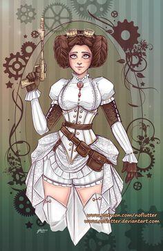 Steampunk Leia by NoFlutter