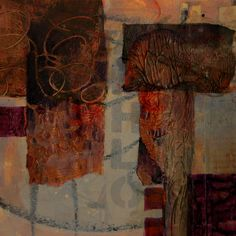 Mixed media abstract collage by Carol Nelson