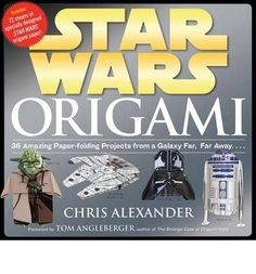 Just found hubby's xmas present :-D   Features specially designed origami paper. In this title, each of the 36 projects has two sheets of corresponding origami paper featuring art drawn from the movies. It offers 72 sheets of origami paper that is bound into the back of the book, and is perforated for easy removal.