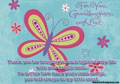 Cute Sayings For Grand Daughters | ... | Posted in Birthday Wishes for Granddaughter | Posted on 15-10-2012