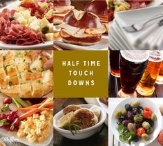 Best part of getting together for the big game? The food, for sure.  A classic football buffet has loads of options to build your own plate. We love starting with a choose- your-own-sandwich-adventure, then add sides and snacks. #sports #entertaining #football
