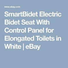 SmartBidet Electric Bidet Seat With Control Panel for Elongated Toilets in White | eBay