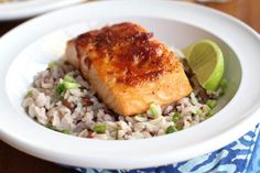 Red Curry Salmon with Coconut Brown Rice - Inquiring Chef
