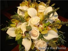 elegant calla and roses with an organic flair