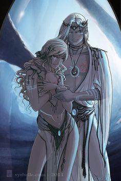 Eareen and Tjalelh by Vyrhelle-VyrL.deviantart.com on @deviantART