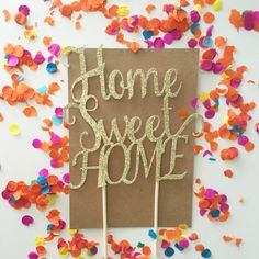 Glitter Home Sweet Home Cake Topper House by PrettyCuteCuts