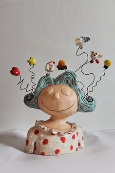 Songe... cool figurative whimsical cermic art sculpture