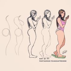 Step by step booty girl sketch anatomy em 2019 drawings, cartoon drawings e Anatomy Sketches, Body Sketches, Anatomy Drawing, Drawing Sketches, Drawing Step, Drawing Drawing, Woman Drawing, Drawing Cartoon Characters, Character Drawing