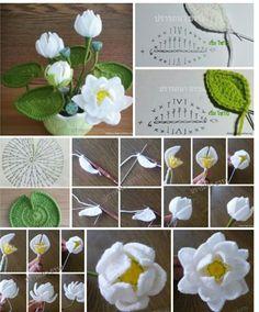 New Crochet Flowers Bouquet Free Pattern 57 Ideas Diy Crochet Flowers, Crochet Bouquet, Crochet Puff Flower, Diy Crafts Crochet, Crochet Flower Tutorial, Knitted Flowers, Crochet Flower Patterns, Love Crochet, Crochet Gifts