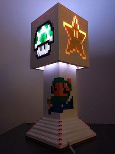 Mario Brothers LEGO Lampe von PUGSandLEGO auf Etsy