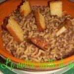 Zuppa di lenticchie e pasta con crostini