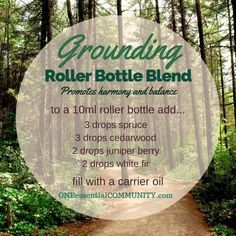"""""""grounding"""" roller bottle blend promotes harmony and balance-- LOVE this…"""