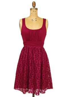 $39.99 Lovely in Lace Dress: Wine