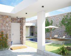 """2015_ PROGETTO """"Villa a patio"""", Manduria (TA), vista ingresso."""