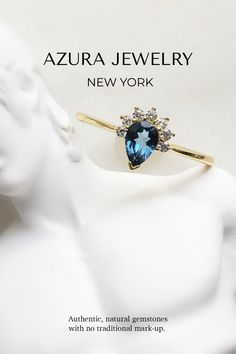 Azura Jewelry provides a collection of beautiful authentic Gemstones jewelry. This Londo Blue Topaz rings make the perfect everyday ring, a beautiful promise ring for that special someone, or a gorgeous engagement ring! Very minimalist and classy. Our bands are made with 14k Gold Vermeil but are customizable in 10k Solid Gold and 14k Solid Gold. Our team does our best to give our customers premium quality gemstones and provide accessible pricing. Find your gem today! Pink Tourmaline Ring, Blue Topaz Ring, Topaz Gemstone, Tanzanite Jewelry, Topaz Jewelry, Beautiful Promise Rings, Everyday Rings, Stacking Rings, Solid Gold