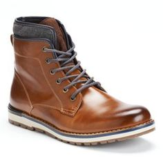 10e40348385 These men s SONOMA life + style ankle boots feature wraparound laces.. Best  Shoes For