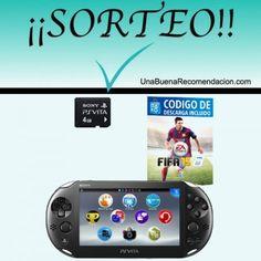 SORTEO CONSOLAC PS VITA SLIM   FIFA 15   TARJETA DE MEMORIA 4 GB Fifa 15, Ps, Pageants, Prize Draw, Games, Hipster Stuff, January, Blue Prints, Photo Manipulation