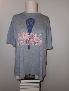vintage 70s cornell university lacrosse red white by RabiaYMiel