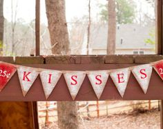 Items similar to Valentines Day Banner, Valentines Day Gift ...