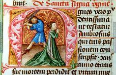 Martyrium der Hl. Agnes   Dieses Bild: 005030     1446 ; 1446 ; Wien ; Österreich ; Wien ; Österreichische Nationalbibliothek ; cod. 326 ; fol. 37r