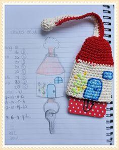 sleutelhoesje, keyholder  met patroon