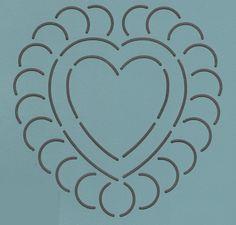 """Heart 3"""" - The Stencil Company"""