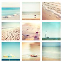 Beach Photo Set Nine 5x5 Photographs  summer by CarolynCochrane