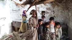 Child relatives of people who died in botched US counterterrorism raid in Yemen on January 29, 2017.