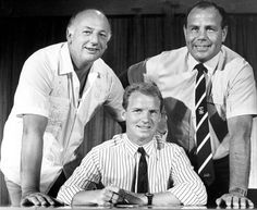 July 1987: Coventry City co-managers John Sillett & George Curtis flank new signing David Speedie.