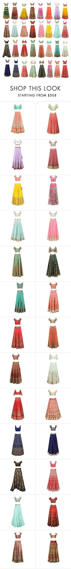 """""""Half Sarees"""" by mustangirl25 ❤ liked on Polyvore"""