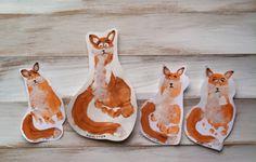 Fox footprint art