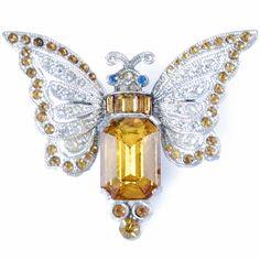 Art Deco Moth Dress Clip www.catspajamas.com