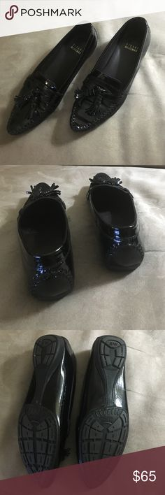 NWOT Stuart Weitzman patent leather loafers 6.5M Classic and sophisticated Made in Spain Black patent leather loafers in a size 6.5 M from Stuart Weitzman. Stuart Weitzman Shoes Flats & Loafers