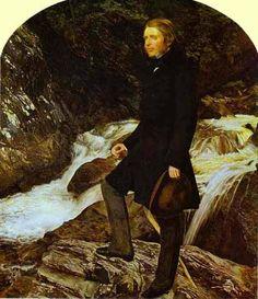 Ruskin retratado por Millais, durante la elaboracion de este cuadro Millais y Effie se enamoraron.