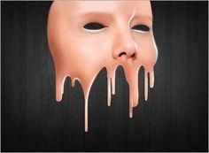 Создаем маску с эффектом стекающей краски в Фотошоп
