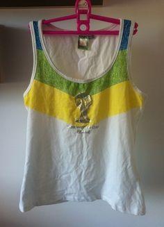 Kup mój przedmiot na #vintedpl http://www.vinted.pl/damska-odziez/koszulki-na-ramiaczkach-koszulki-bez-rekawow/11428606-fifa-group-basic-bokserka-sportowa-s-m-l-biala-nadruk