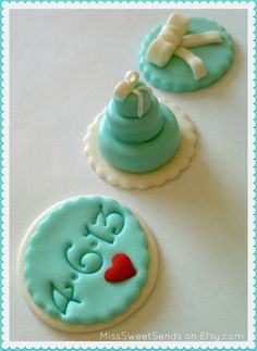 Tiffany Blue Cupcake Toppers <3  MissSweetSends on Etsy