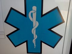 The star of life, most recognized sign for emergency medical service
