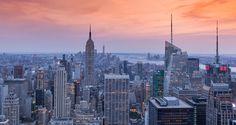 Sunset over New York City - Sunset over Manhattan, New York City