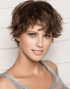 Love the texture and how fun it is! beautiful messy short hairstyles