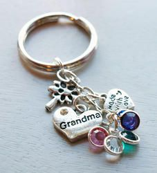 Grandma Dangling Key Chain Personalized Hand Stamped Save 15% with PINTEREST coupon at the checkout. No expiration date
