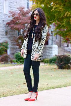 faux fur coat, asos faux fur leopard print coat, leopard print coat, faux fur animal print