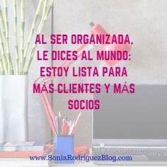 como ser más organizada