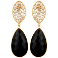 Carousel Jewels - Crystal & Black Onyx Drop Earrings (14.925 RUB) ❤ liked on Polyvore featuring jewelry, earrings, black onyx drop earrings, black onyx earrings, crystal jewelry, crystal earrings and crystal stone jewelry