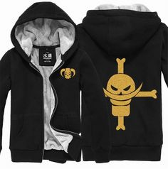 Vicwin-One One Piece White Beard Logo Thick Hoodie Costume Cosplay (Size M) ** To view further for this item, visit the image link.