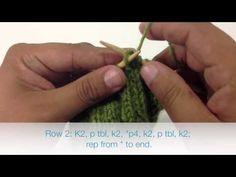 The Rose Garden Cable Stitch :: Knitting Stitch #168 :: New Stitch A Day