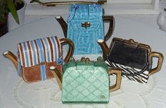 Love Annie Rowe Teapots! From Rags To Bags: Topsy Turvy Teapots