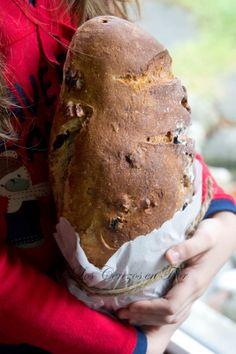 Pan de trigo, centeno, pasas y nueces y Al Olor del Pan!!! - Los cerezos en flor