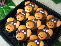 monkey cup cakes - Google Search